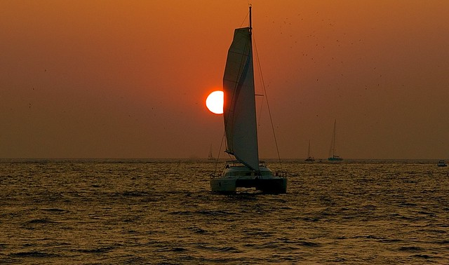 Sailing into the Sun(set)