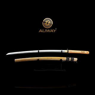 auway-samurai-sword-Rose-Tsuba-Wood-color-scabbard-1