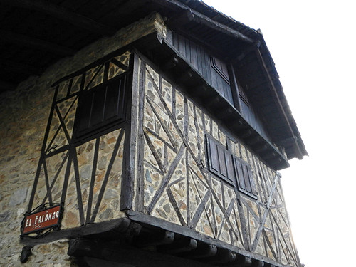 Tudor-style timbered house in Potes, Spain