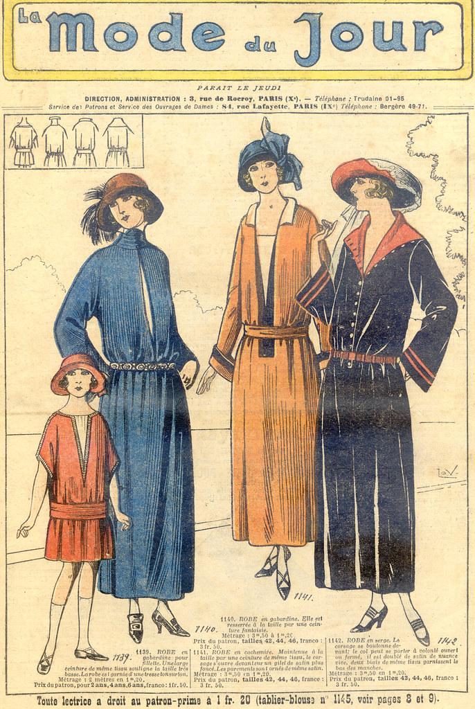 Gravure de La Mode du jour, 1922