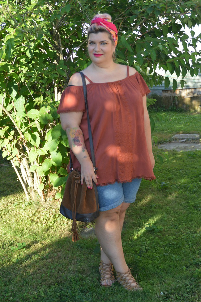 Outfit plus size shorts (7)