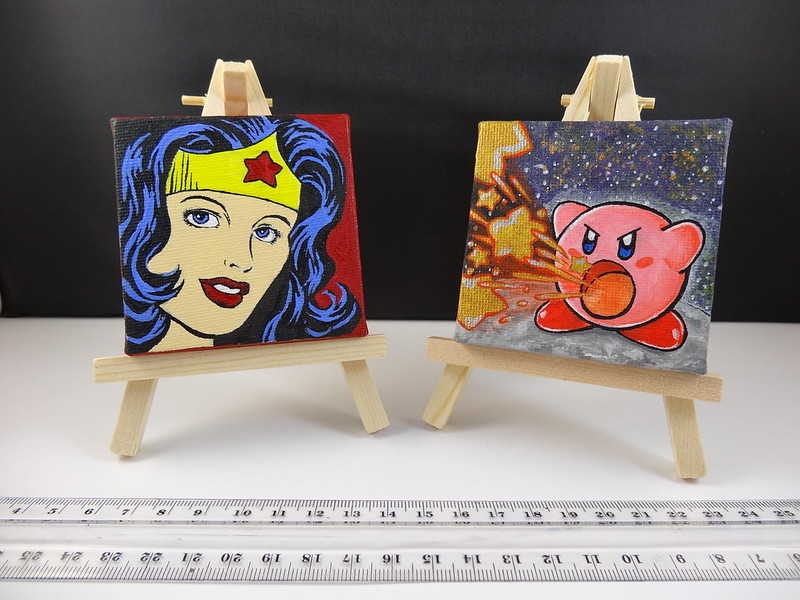 7x7cm mini canvases